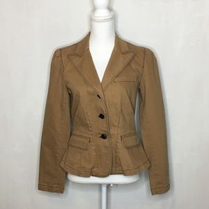 NWT Ralph Lauren Abbey Camel Denim Jacket/Blazers